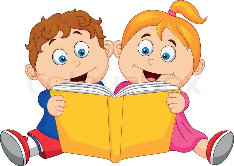 Kids Reading Book Clipart Free Download Best Kids Reading