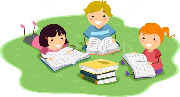 600x322 Reading Kids Vector Illustration Lenm ( 2148571) Stockfresh