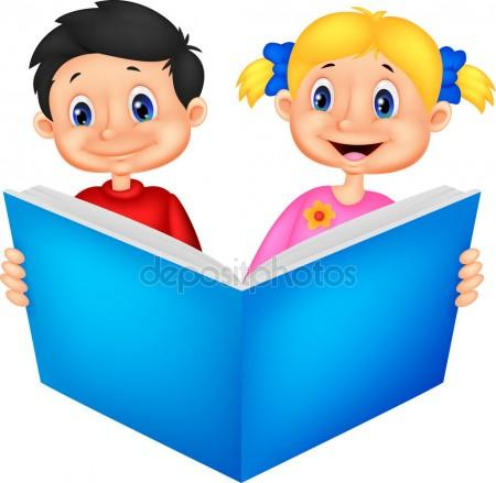 450x439 Children Reading Together Stock Vectors, Royalty Free Children