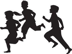 Kids Running Clipart