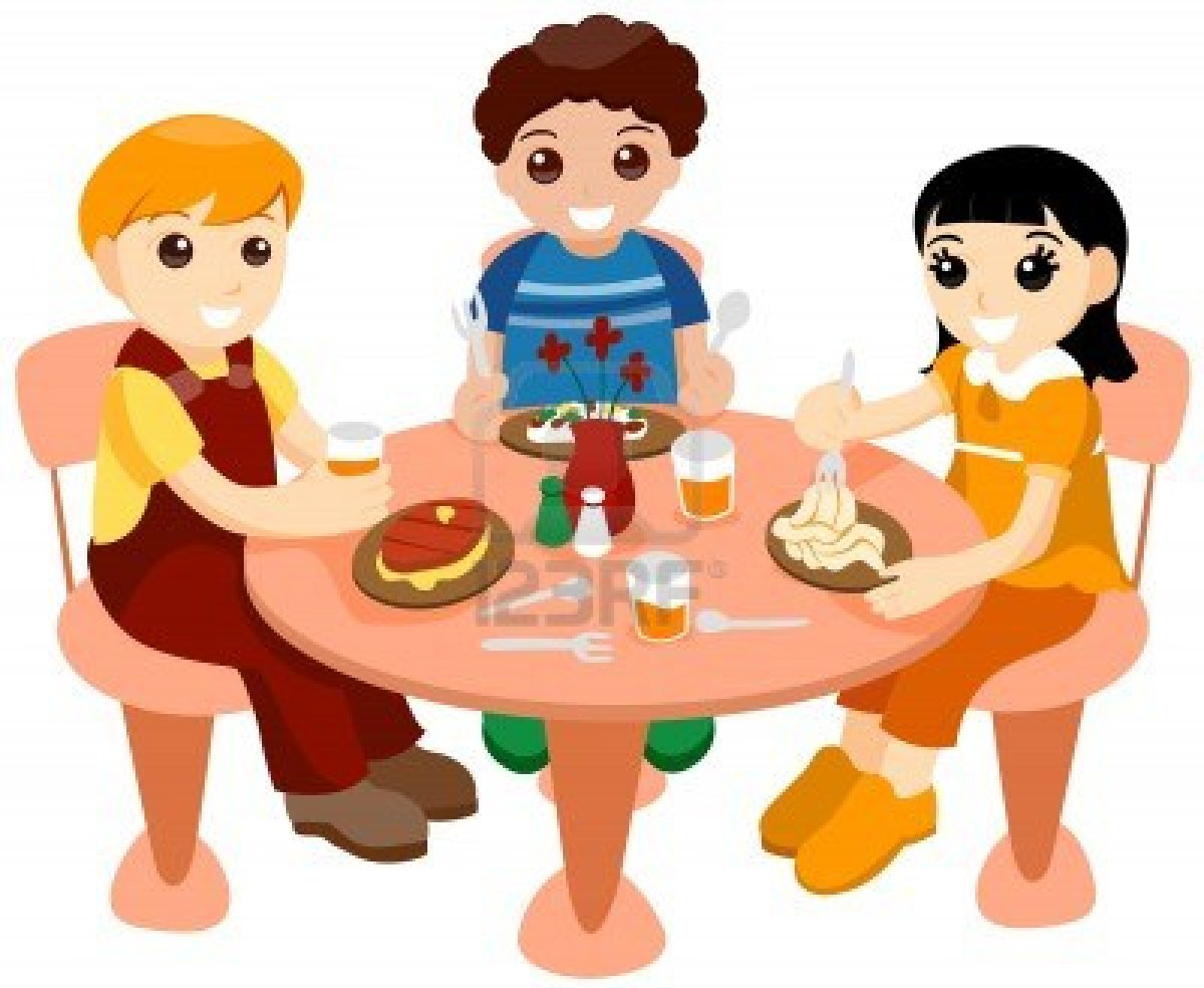 1200x984 Kids Eating Breakfast At School Clipart