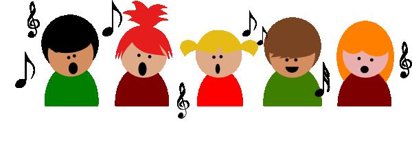 600x211 Clipart Children Singing