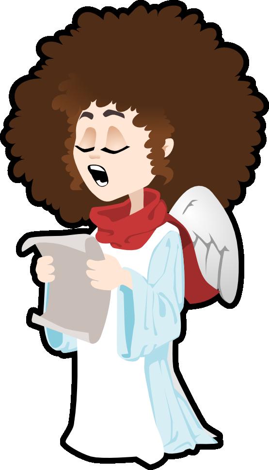 555x968 Free Angel Singing Clip Art