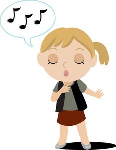 233x300 Kid Singing Clipart