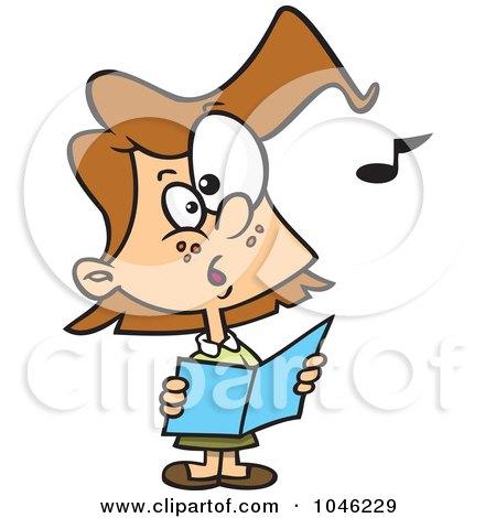 450x470 Royalty Free (Rf) Clip Art Illustration Of Cartoon Choir Kids