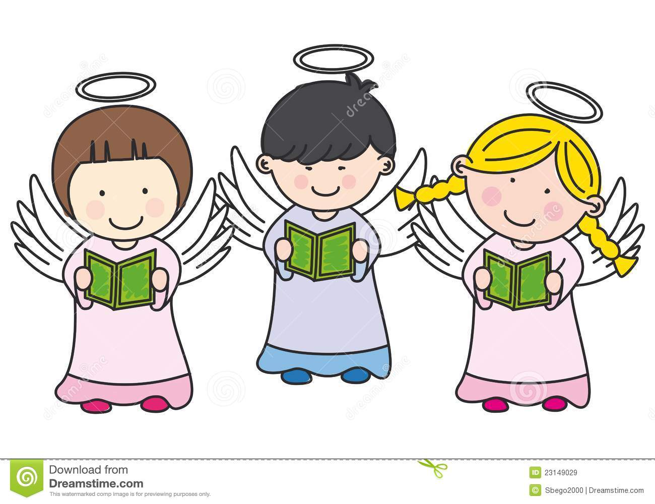 1300x1000 Singing Christmas Angels Clipart