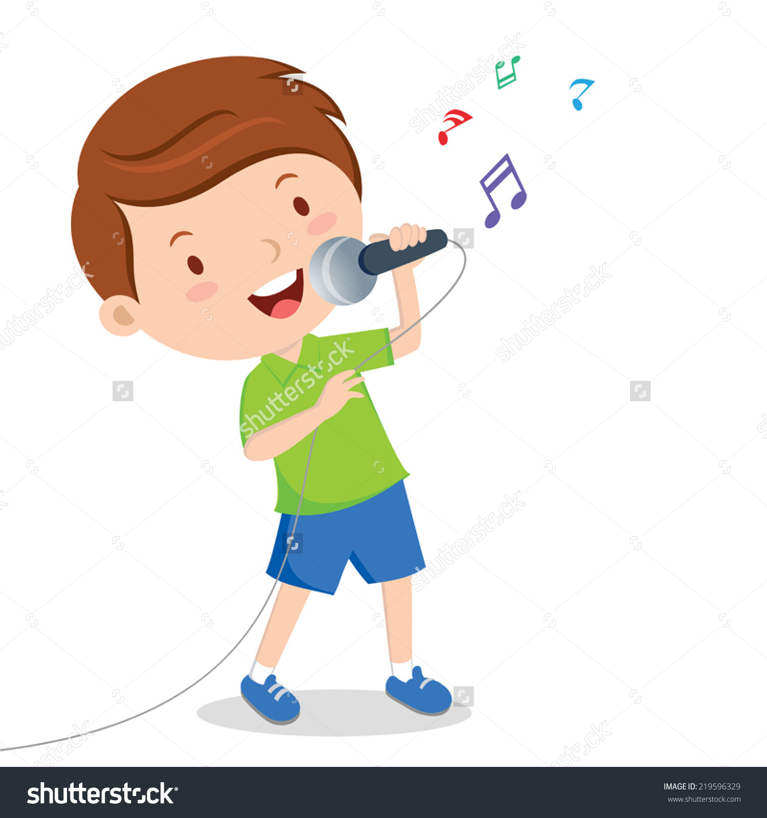 1500x1600 Singing Clipart