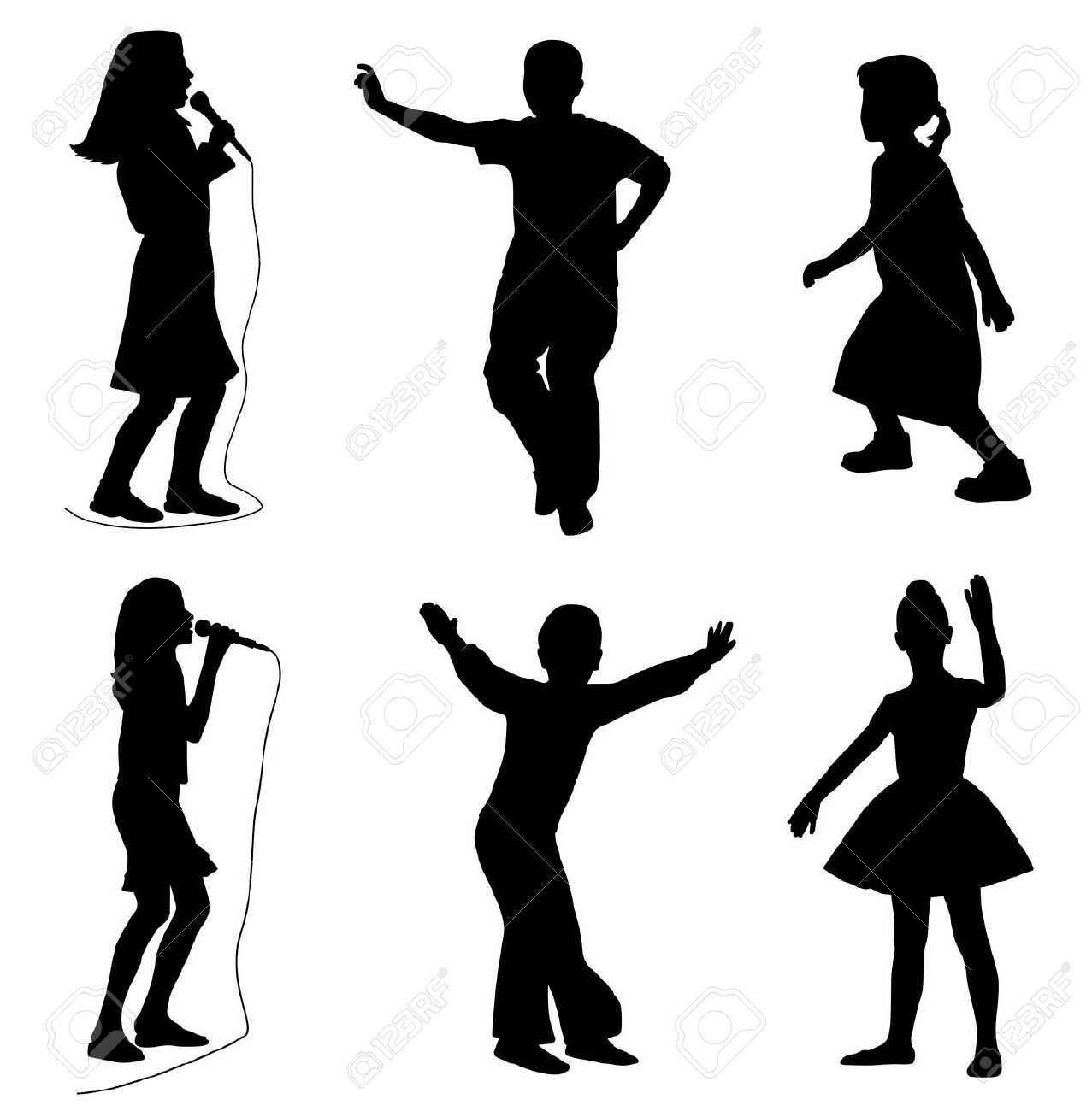 1277x1300 Singing And Dancing Clip Art Cliparts