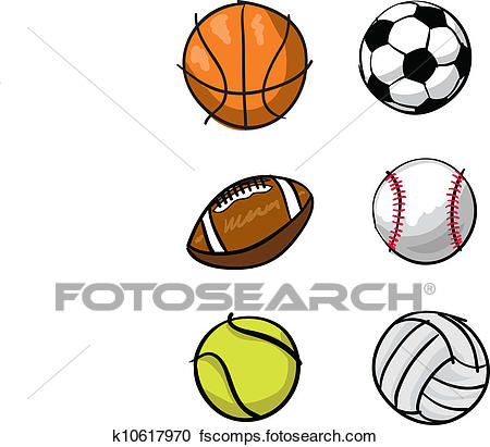 450x411 Clipart Of Kids Sports Balls K10617970