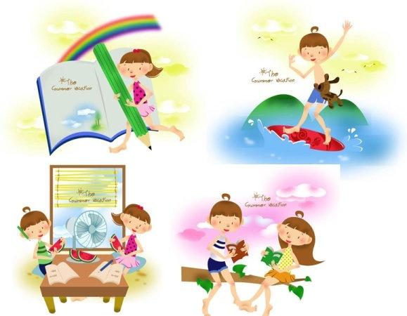 579x450 Children Summer Camp Free Vector Download (3,711 Free Vector)