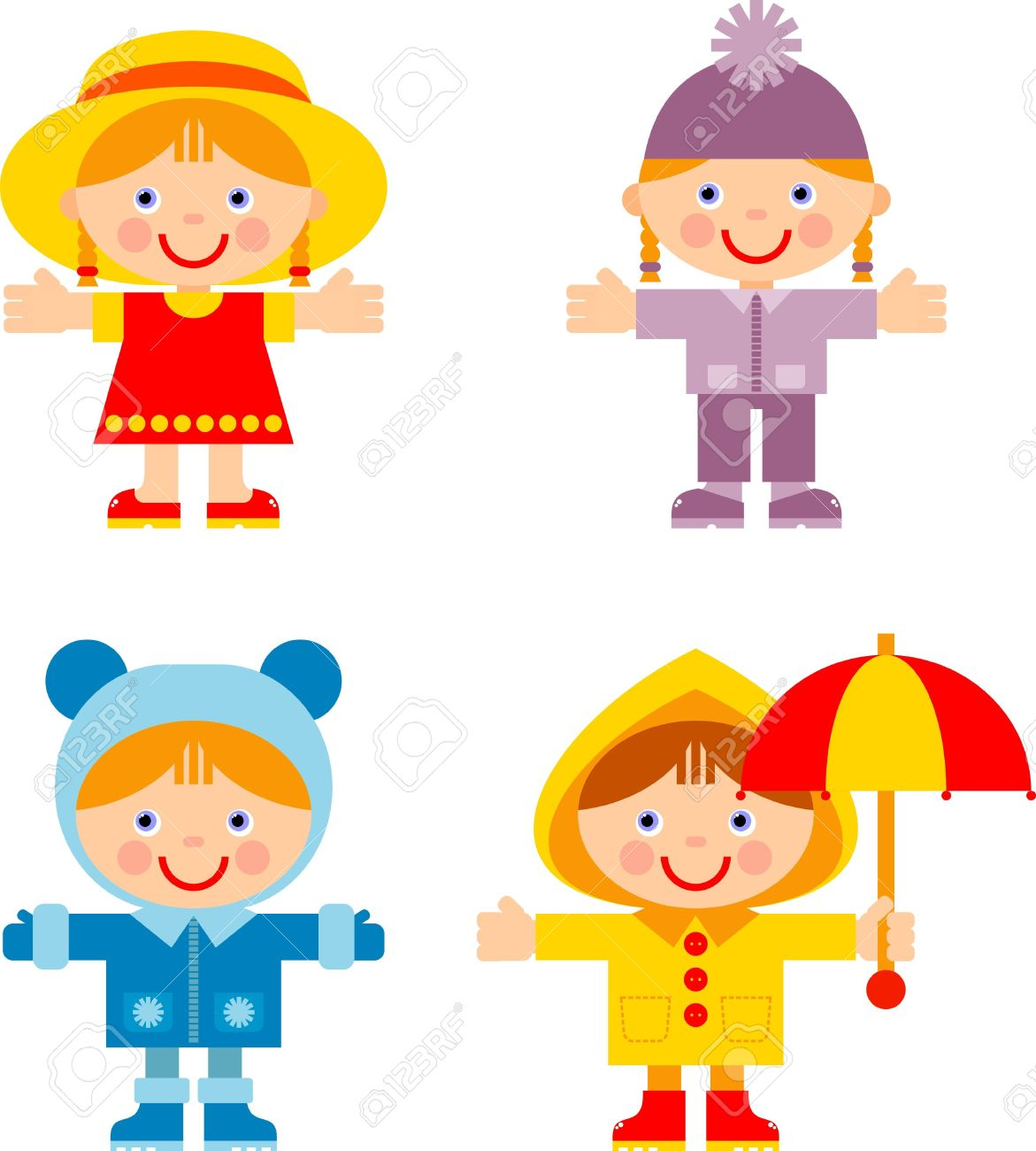 Kids Summer Clothes Clipart | Free download on ClipArtMag