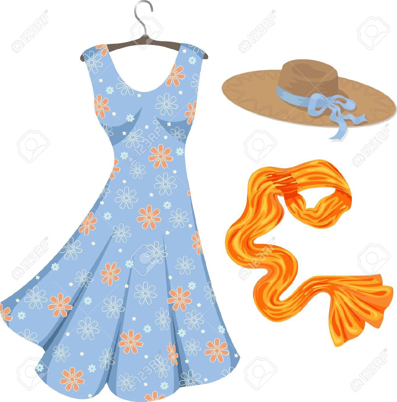 1284x1300 Summer Dress Clipart