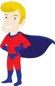 192x300 Free Super Hero Clip Art