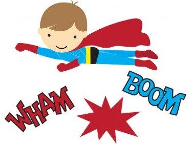 375x281 Superhero Printables Clipart