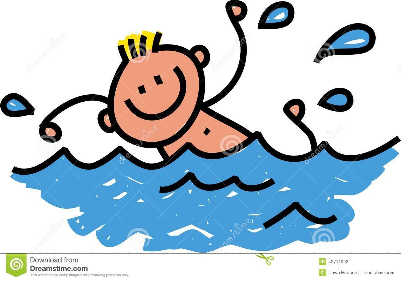 1300x909 Cartoon Swimming Clipart
