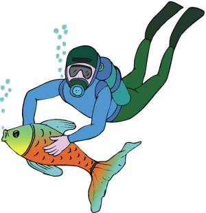 300x310 Diver Kids Swimming Clipart Free Clipart Images