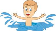 195x108 Free Kid Swimming Clipart