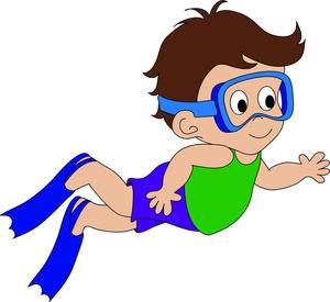 300x275 Kids Swimming Animated Clipart Panda