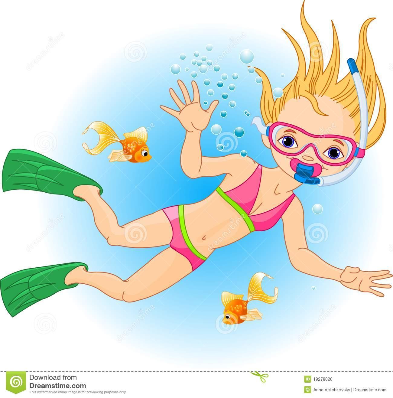 1300x1316 Little Girl Clipart Swimming