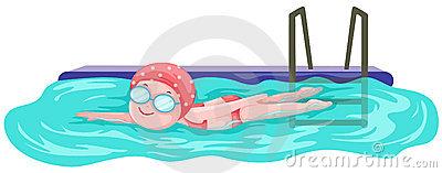400x157 Person Swimming Clipart