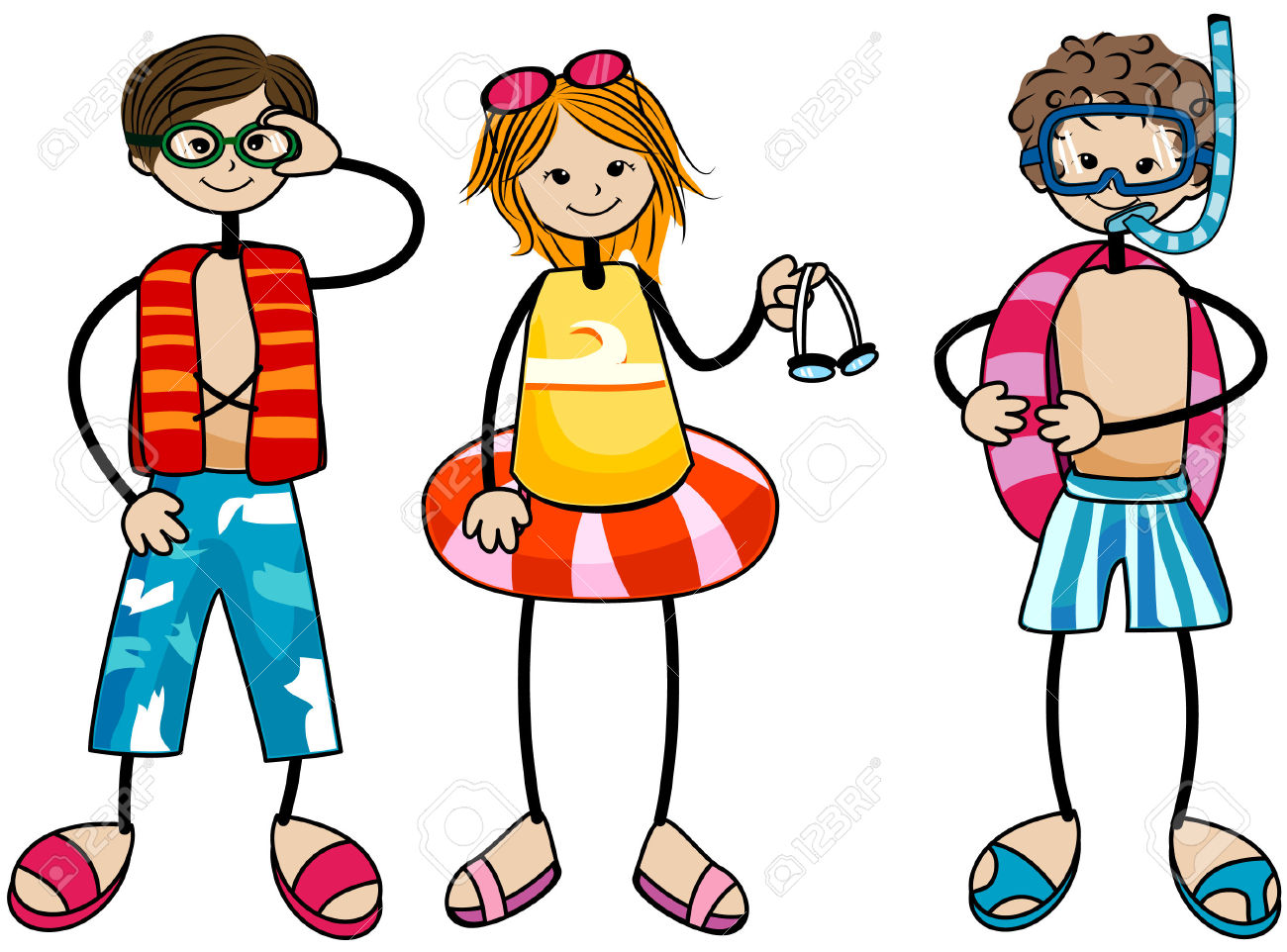 Kids Swimming Clipart Free | Free download on ClipArtMag