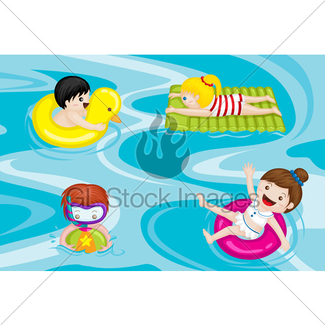 325x325 Children's Inflatable Swimming Pool Gl Stock Images