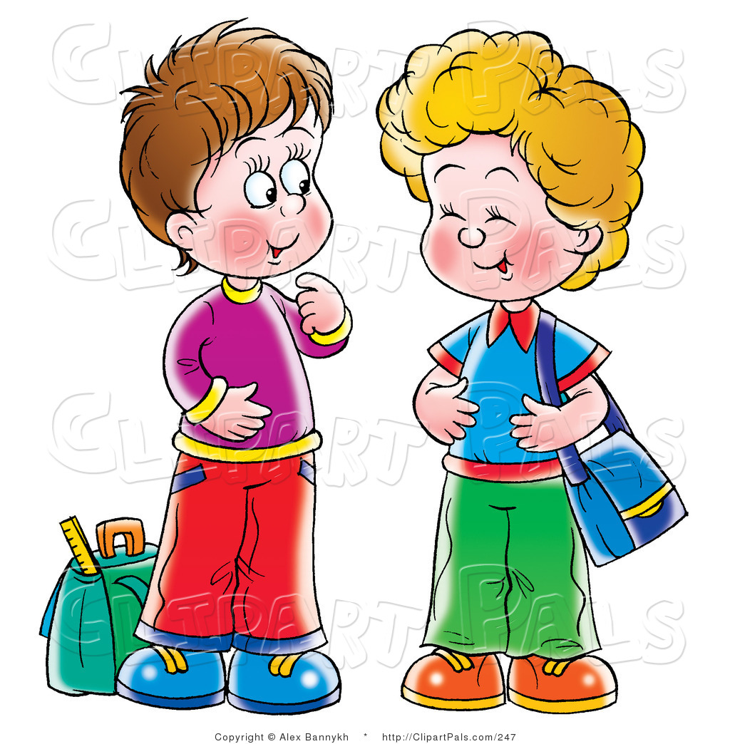 1024x1044 Pal Clipart Of Two Little Boys, Friends Laughing And Talking