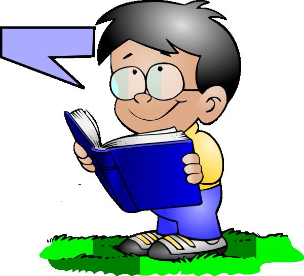 600x544 Boy Readingtalking Clip Art
