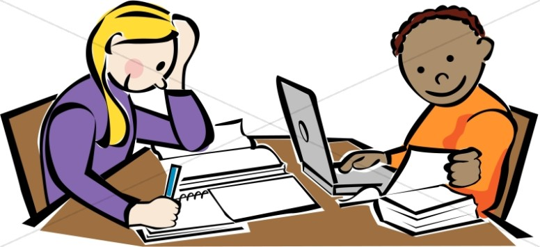 776x355 Library Kids Studying Christian Classroom Clipart