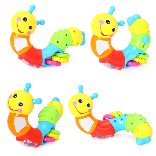 640x640 Kids Educational Toys Baby Rattle Lovely Worm Toys Insert Puzzle