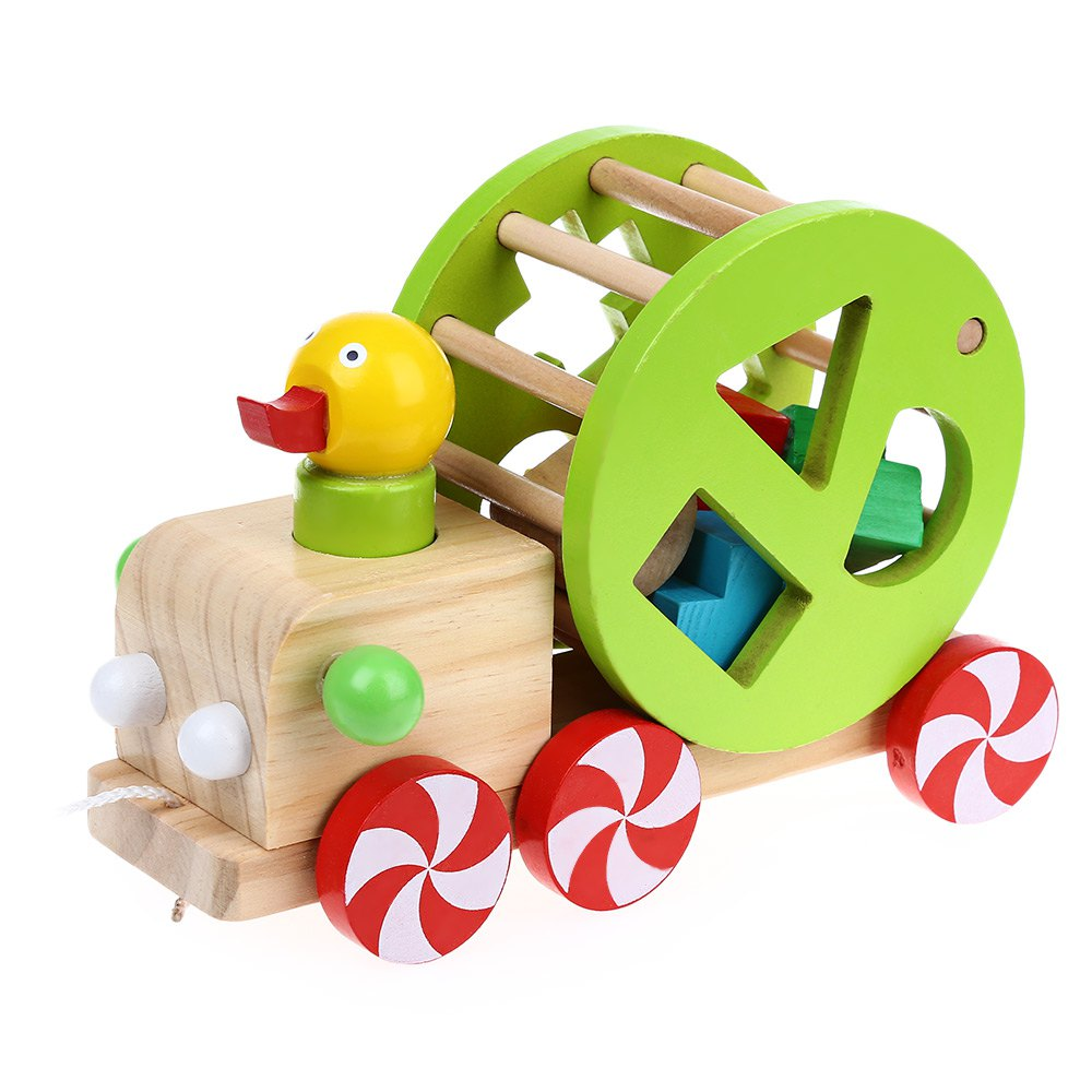 1000x1000 Kids Wooden Materialswisdom Duck Pull Car Early Education Teaching