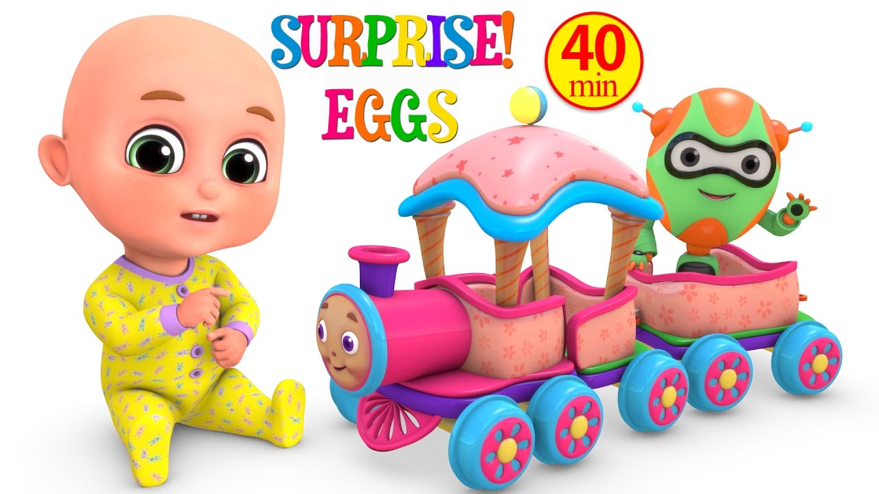 1280x720 Toy Train Surprise Eggs For Kids