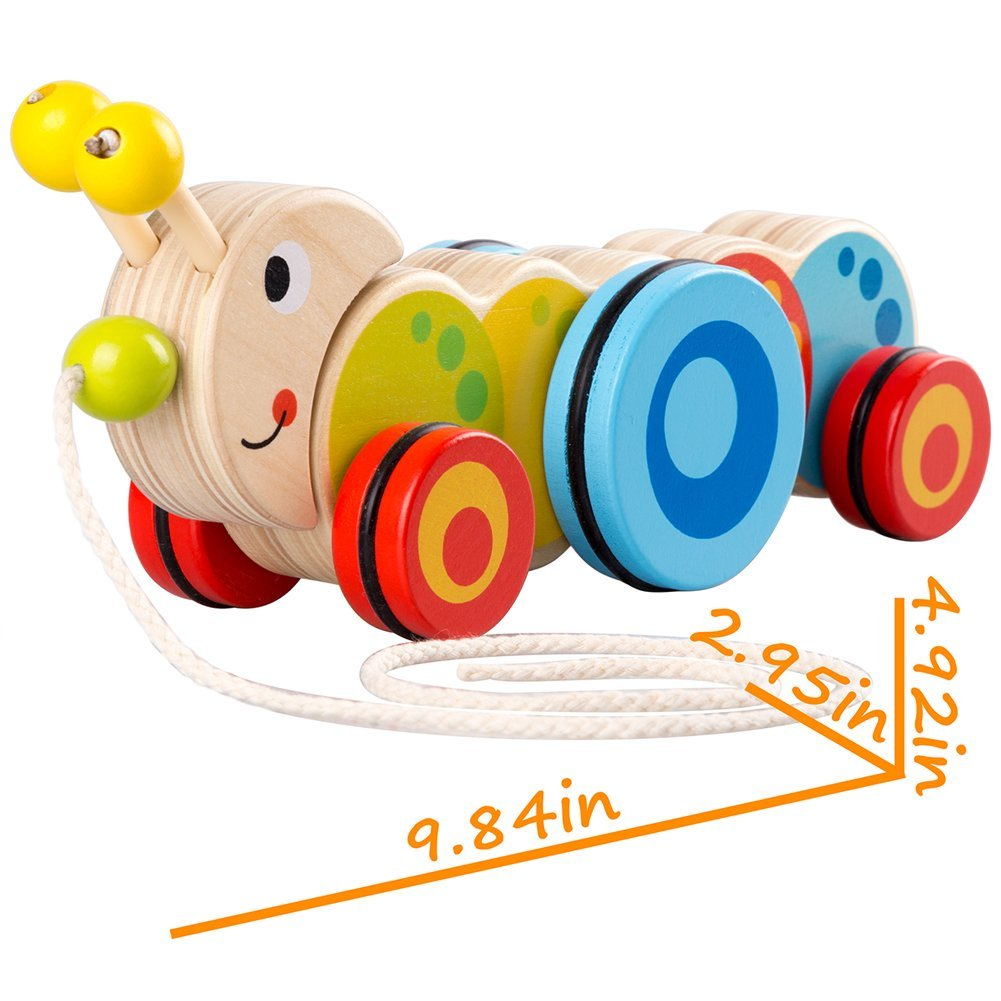 1001x1001 Wooden Pull Toys For 1 Year Old, Caterpillar Push Toy For Toddler