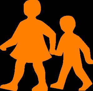 298x291 Children Walking Clip Art