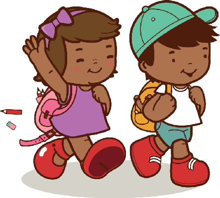 Kids Walking Clipart