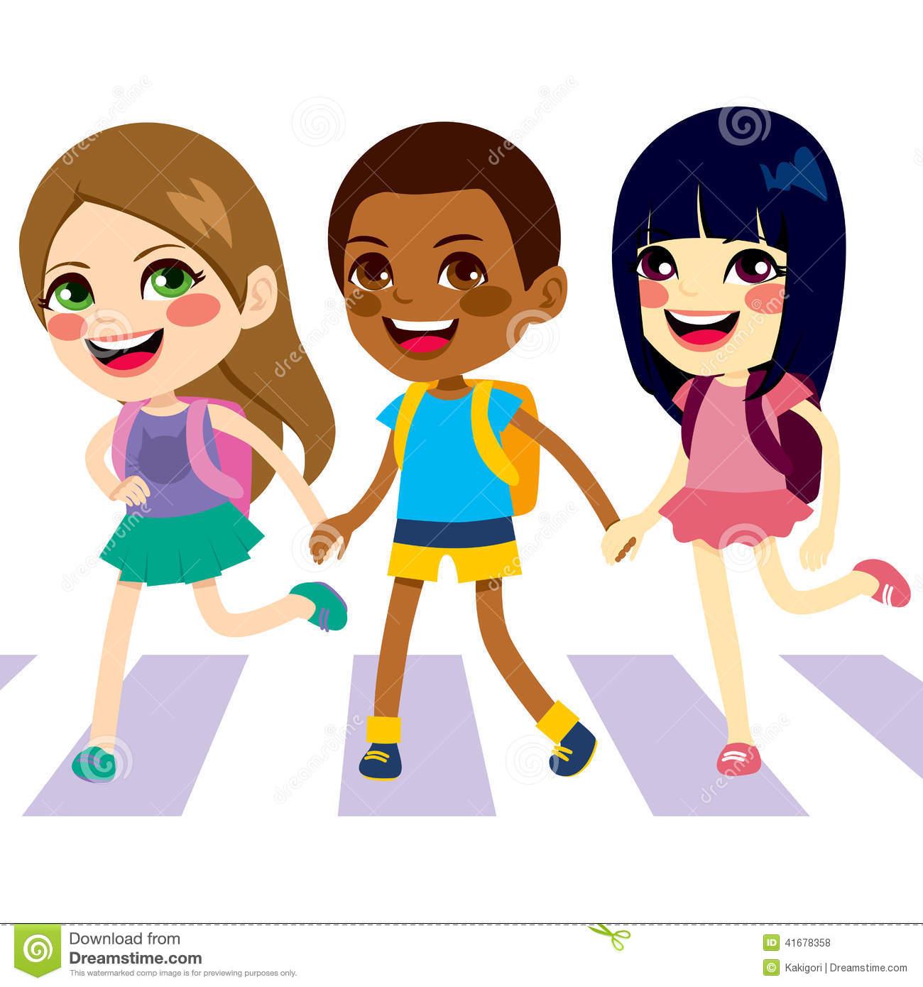 1300x1390 Street Clipart Kids Crossing