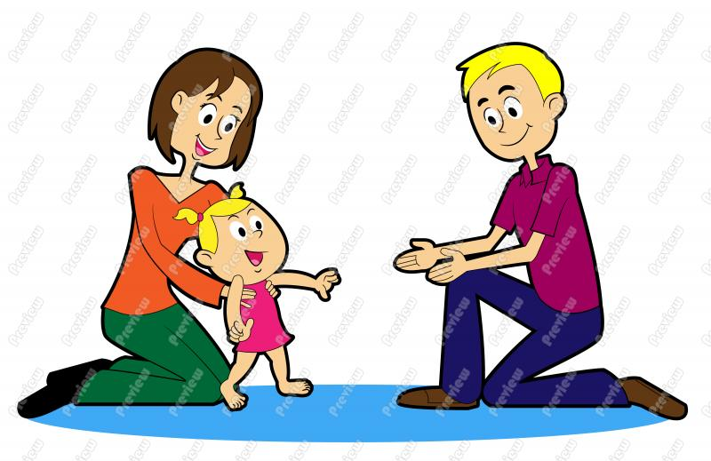800x519 Walking Baby Clipart