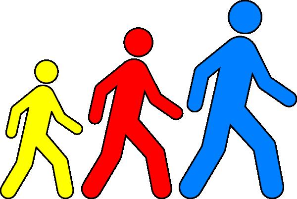600x402 Walking Man Colors 1 Clip Art