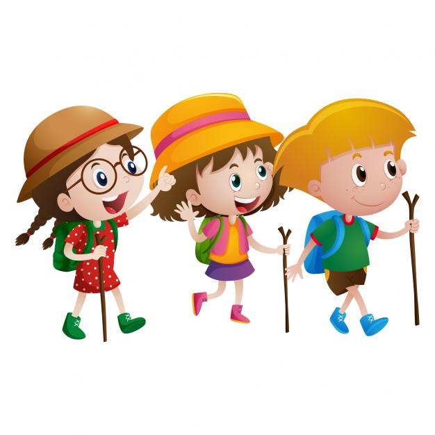 626x626 Walking Kids Clipart