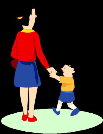 350x453 Cartoon Baby Walking