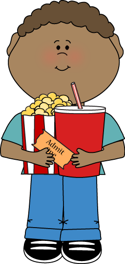 256x537 Going To The Movies Clipart