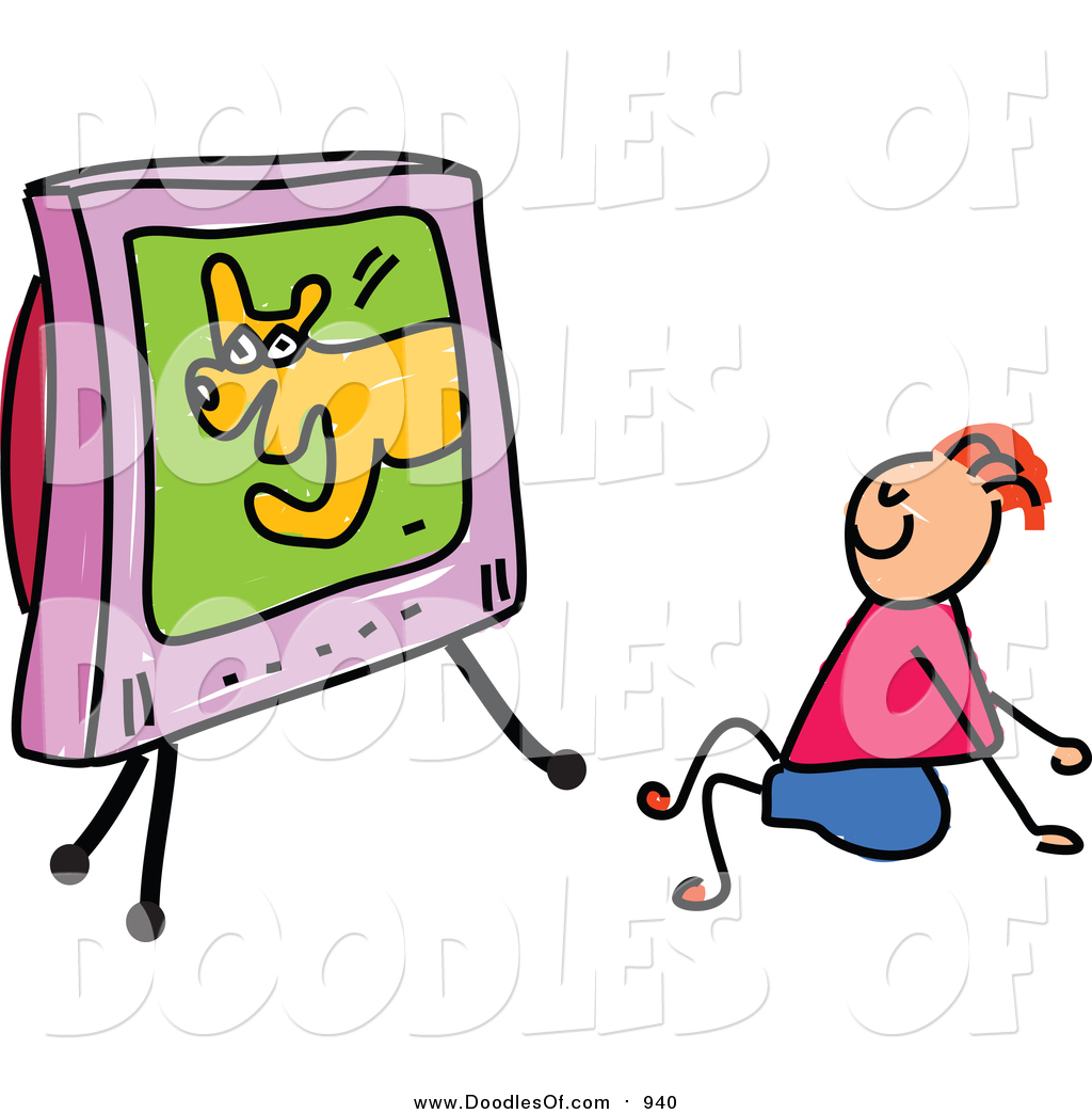 Kids Watching Tv Clipart | Free download best Kids Watching Tv