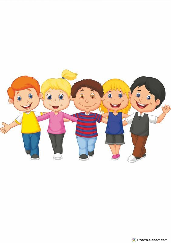 Kids Working Together Clipart