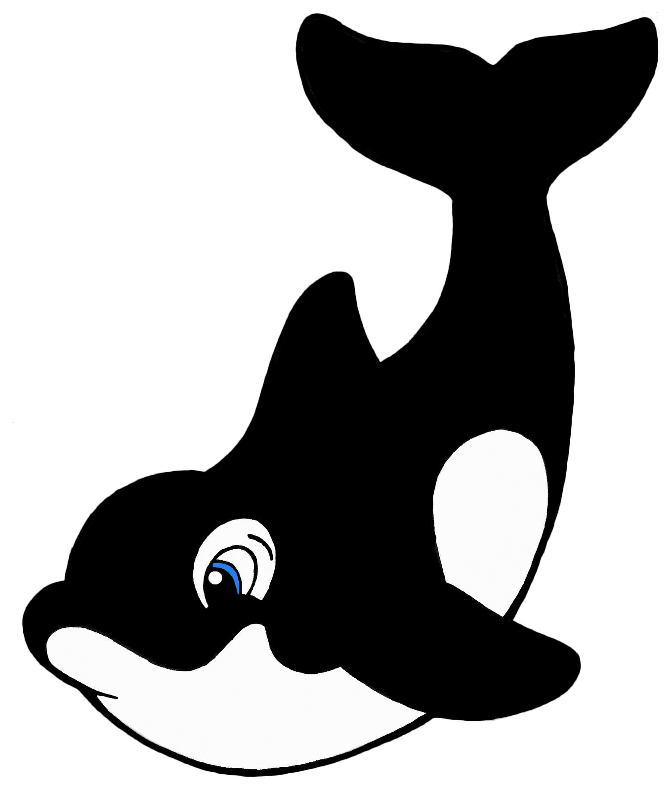 1360x1600 Whale Black And White Cartoon Killer Whale Free Download Clip Art