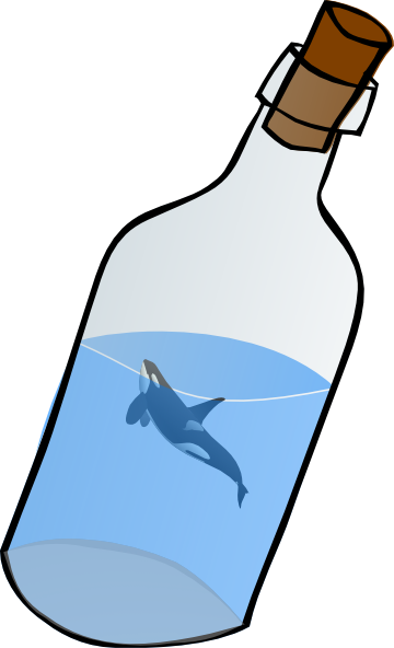 360x592 Bottled Glass With Killer Whale Clip Art
