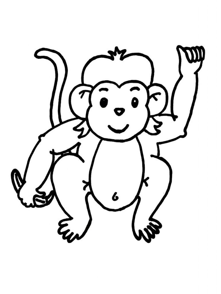 771x1024 Monkey Black And White Monkey Clip Art Black And White Free