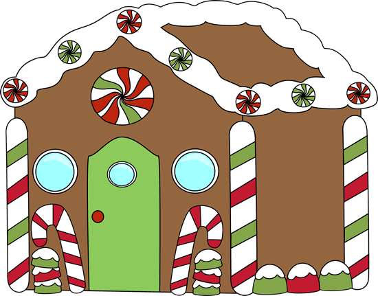 550x431 Gingerbread House Clip Art