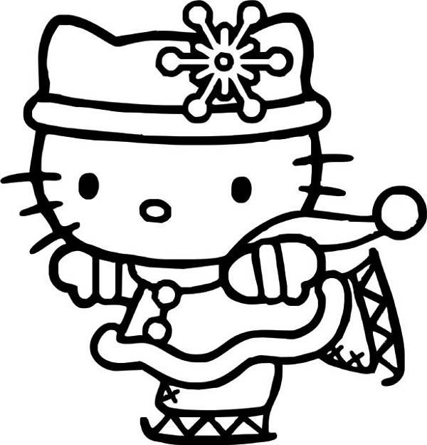 600x624 Marvelous Hello Kitty Christmas Coloring Pages 44 For Your Gallery