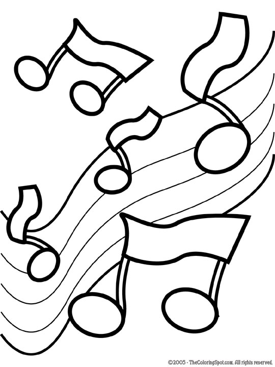 540x720 Music Coloring Pages Music Notes 2 Free Printable Coloring