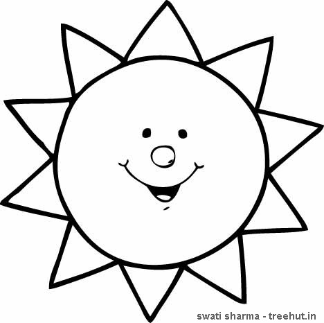 468x466 Sun Coloring Pages For Preschoolers Kids Activities